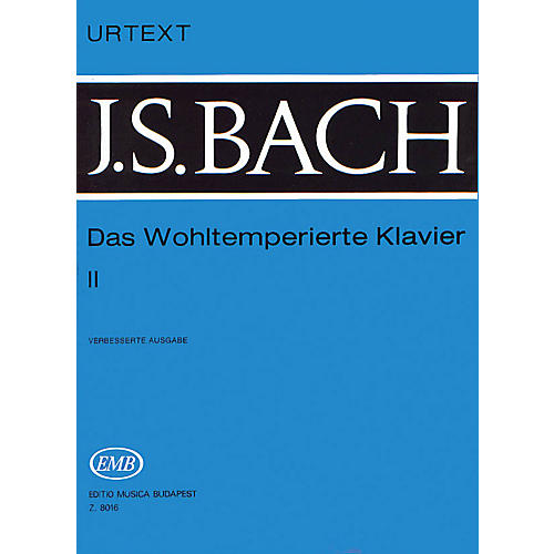 Editio Musica Budapest Well Tempered Clavier - Volume 2 BWV 870-893 EMB Series Composed by Johan Sebastian Bach
