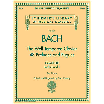 G. Schirmer Well-Tempered Clavier Complete Books 1 & 2 for Piano By Bach