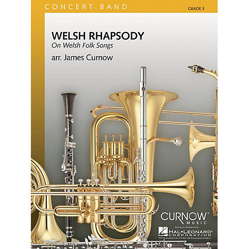 Curnow Music Welsh Rhapsody (Grade 3 - Score Only) Concert Band Level 3 Arranged by James Curnow