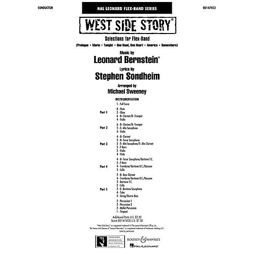 Hal Leonard West Side Story (flex-band) Full Score Concert Band