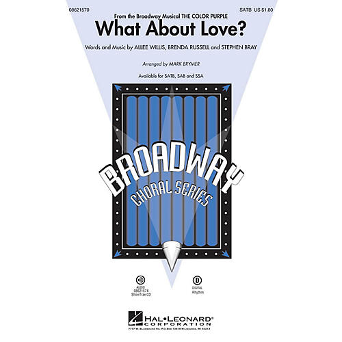 Hal Leonard What About Love? (from The Color Purple) ShowTrax CD Arranged by Mark Brymer