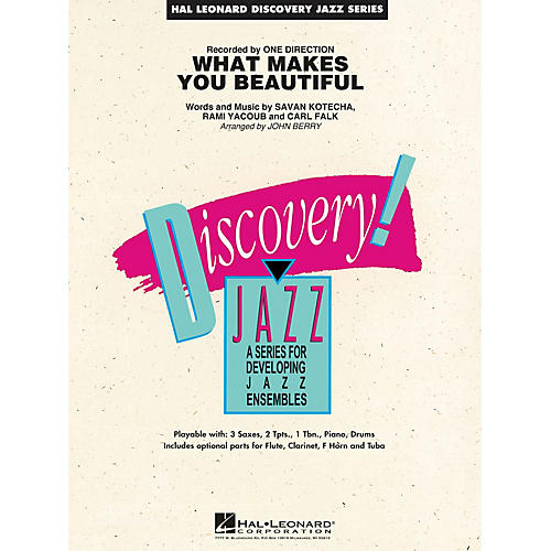 Hal Leonard What Makes You Beautiful Jazz Band Level 1.5 by One Direction Arranged by John Berry