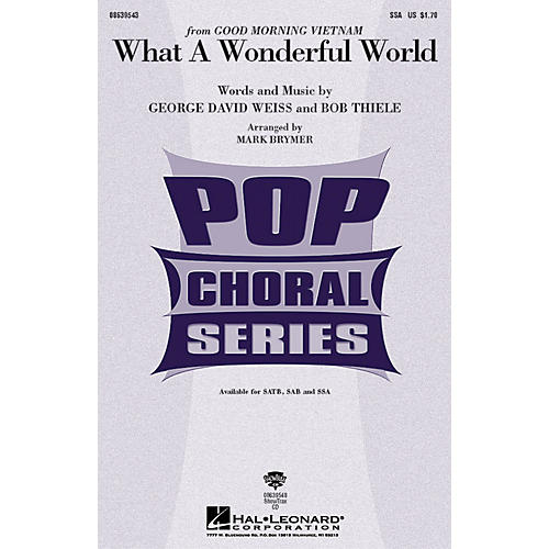 Hal Leonard What a Wonderful World SSA by Louis Armstrong arranged by Mark Brymer