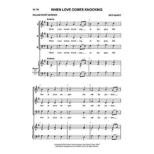 Hal Leonard When Love Comes Knocking (Choral Music/Octavo Secular Sab) SAB Composed by Dewitt, Patti