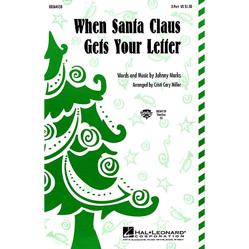 Hal Leonard When Santa Claus Gets Your Letter ShowTrax CD Arranged by Cristi Cary Miller