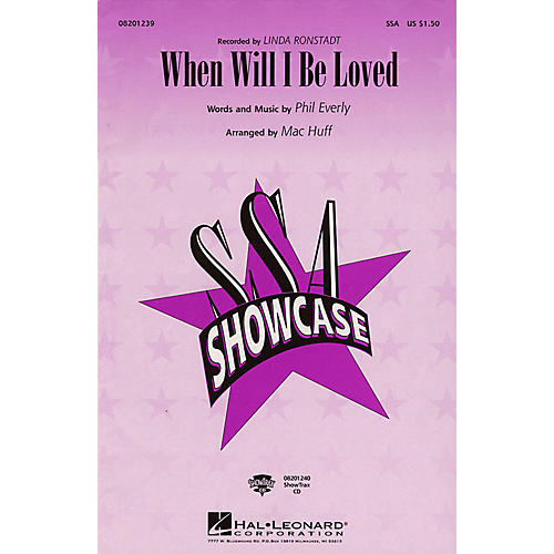 Hal Leonard When Will I Be Loved SSA by Linda Ronstadt arranged by Mac Huff