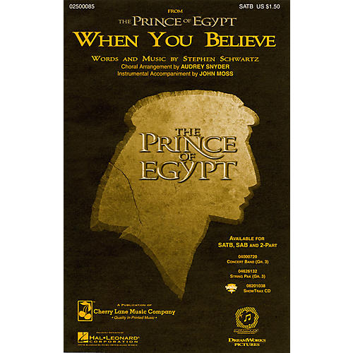 Hal Leonard When You Believe (from The Prince of Egypt) ShowTrax CD Arranged by Audrey Snyder