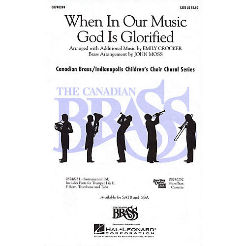 Hal Leonard When in Our Music God Is Glorified SATB composed by Fred Pratt Green