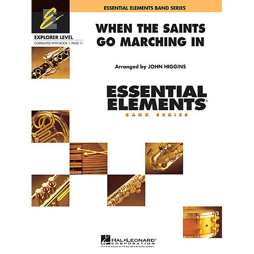 Hal Leonard When the Saints Go Marching In Concert Band Level 0.5 Arranged by John Higgins