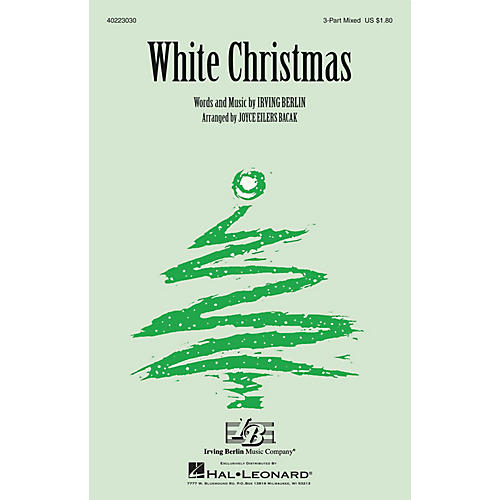 Hal Leonard White Christmas 3-Part Mixed arranged by Joyce Eilers