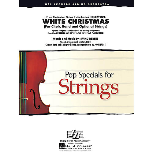 Hal Leonard White Christmas (Band with choir/opt. strings) Score & Parts Arranged by Mac Huff, John Moss