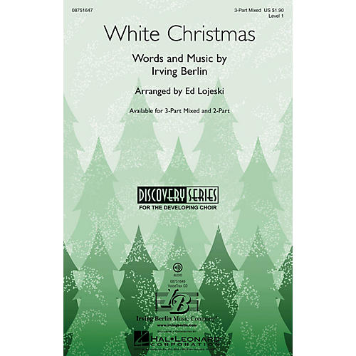 Hal Leonard White Christmas (Discovery Level 1) VoiceTrax CD Arranged by Ed Lojeski