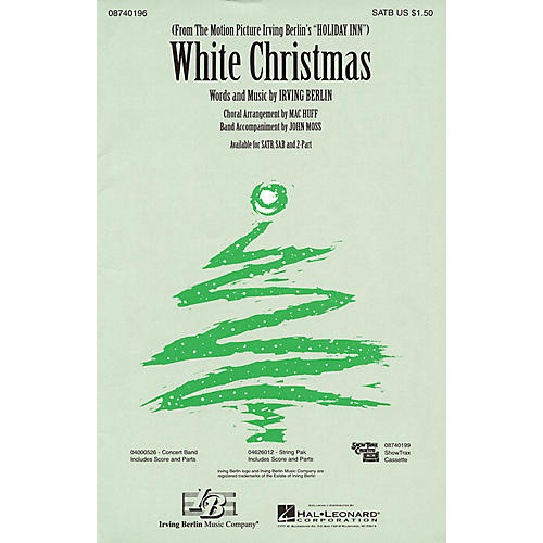 Hal Leonard White Christmas SATB arranged by Mac Huff