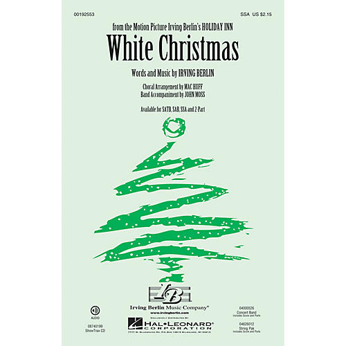 Hal Leonard White Christmas SSA arranged by Mac Huff