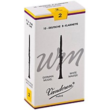 White Master Bb Clarinet Reeds Strength 2, Box of 10