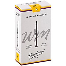 White Master Bb Clarinet Reeds Strength 5, Box of 10