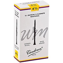 White Master Traditional Bb Clarinet Reeds Box of 10, Strength 4.5
