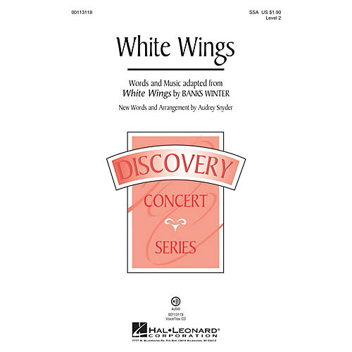 Hal Leonard White Wings (Discovery Level 2) SSA arranged by Audrey Snyder