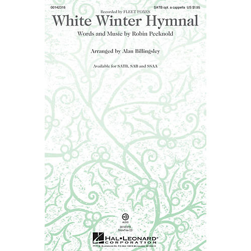 Hal Leonard White Winter Hymnal SATB by Fleet Foxes arranged by Alan Billingsley