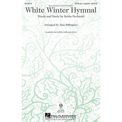 Hal Leonard White Winter Hymnal SSAA by Fleet Foxes Arranged by Alan Billingsley