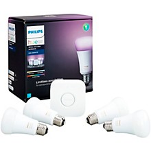 Open Box Philips Hue White and Color Ambiance A19 Gen 3 Starter Kit 4-Pack