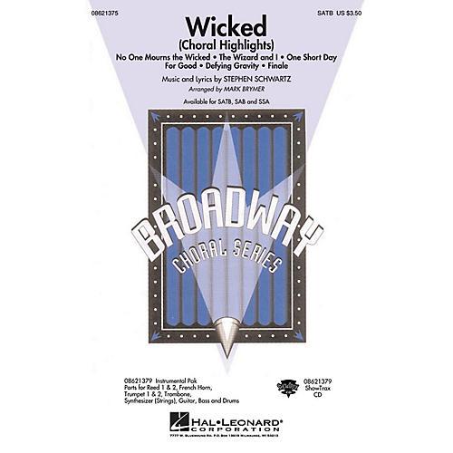 Hal Leonard Wicked (Choral Highlights) SAB Arranged by Mark Brymer