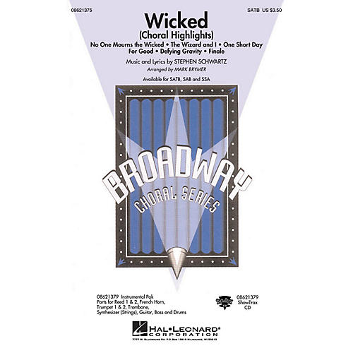 Hal Leonard Wicked (Choral Highlights) SATB arranged by Mark Brymer