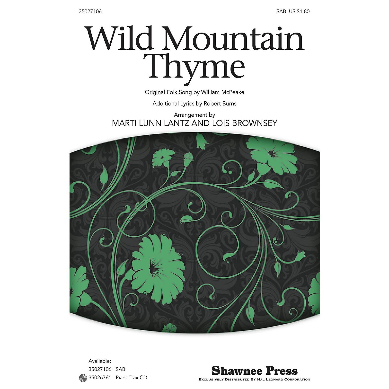 Shawnee Press Wild Mountain Thyme SAB arranged by Marti Lunn Lantz