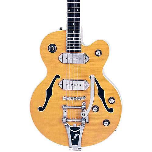 Epiphone Wildkat Bigsby Hollowbody Electric Guitar Antique Natural Chrome