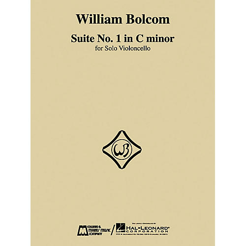 Edward B. Marks Music Company William Bolcom - Suite No. 1 in C Minor (for Solo Violoncello) E.B. Marks Series by William Bolcom
