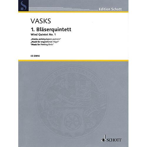 Schott Wind Quintet No. 1 Woodwind Ensemble Series Softcover  by Peteris Vasks
