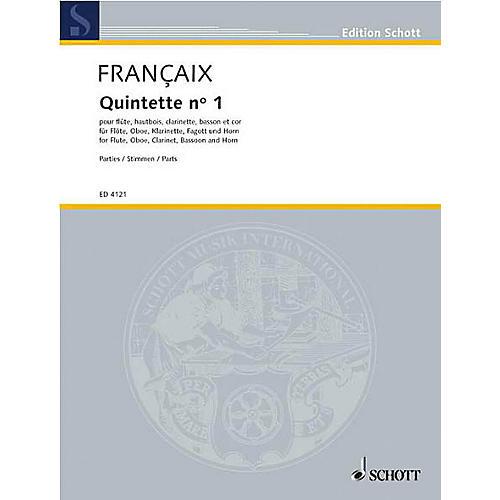 Schott Wind Quintet (Set of Parts) Schott Series by Jean Françaix