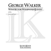 Lauren Keiser Music Publishing Wind Set for Woodwind Quintet (Woodwind Quintet) LKM Music Series by George Walker
