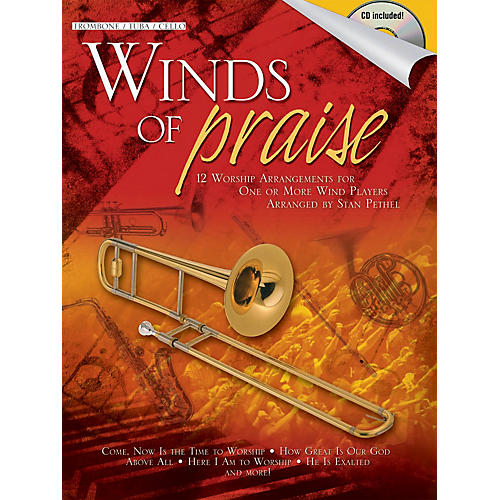 Shawnee Press Winds of Praise (for Trombone, Tuba in C (B.C.) or Cello) Shawnee Press Series Softcover with CD