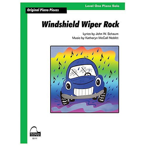 SCHAUM Windshield Wiper Rock Educational Piano Series Softcover
