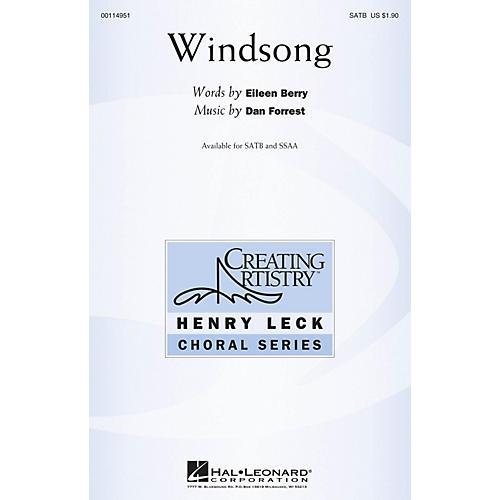 Hal Leonard Windsong SATB composed by Dan Forrest