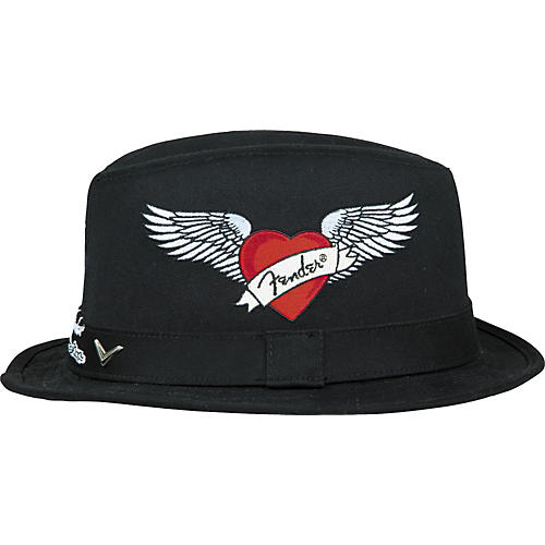 Fender Winged Tattoo Logo Fedora Hat