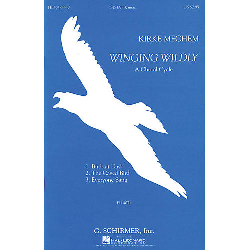 G. Schirmer Winging Wildly SATB Unaccompanied