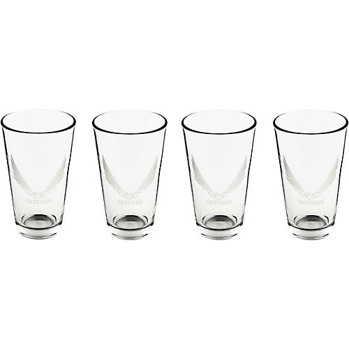 Dean Wings Logo Etched Drinking Glasses 4-Pack