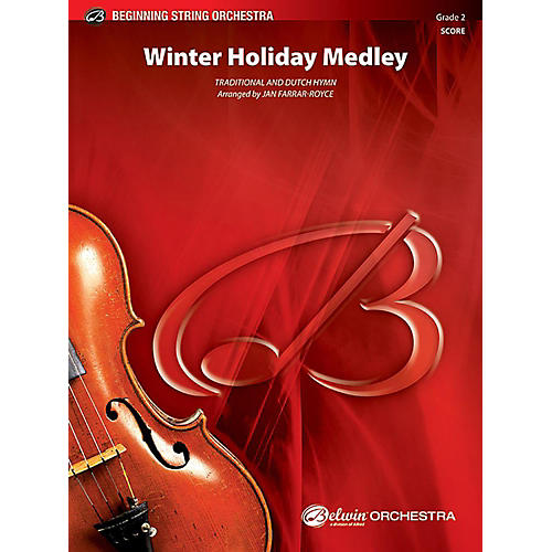 Alfred Winter Holiday Medley String Orchestra Grade 2 Set