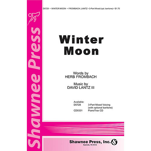 Shawnee Press Winter Moon 3-Part Mixed composed by David Lantz III