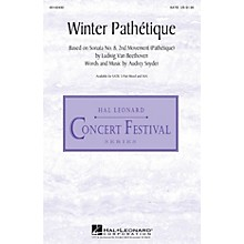 Hal Leonard Winter Pathétique SATB composed by Audrey Snyder
