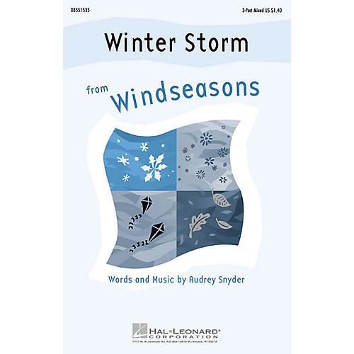 Hal Leonard Winter Storm (from Windseasons) 3-Part Mixed composed by Audrey Snyder