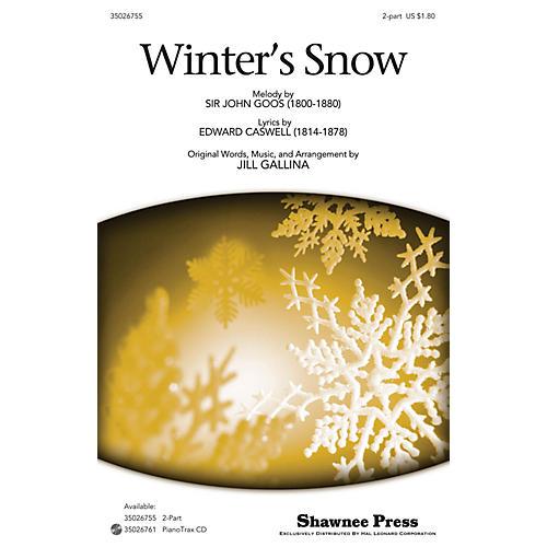 Shawnee Press Winter's Snow 2-Part arranged by Jill Gallina