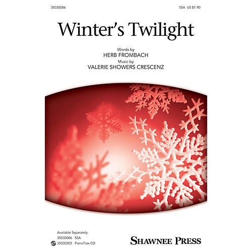 Shawnee Press Winter's Twilight SSA composed by Herb Frombach