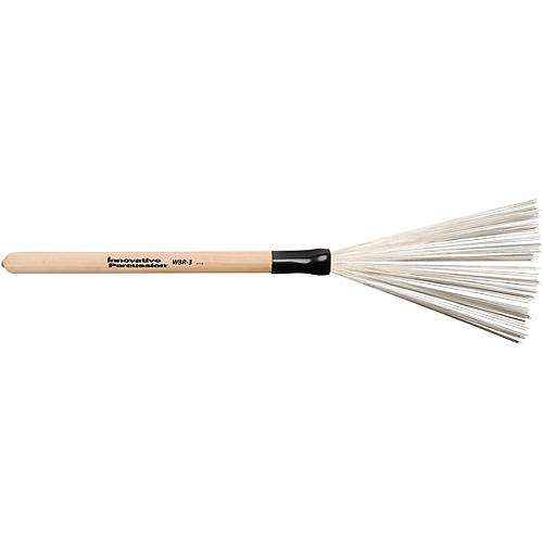Innovative Percussion Wire Brush with Fixed Wood Handle Medium