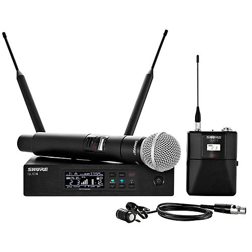 Shure Wireless Bodypack and Vocal Combo System with WL185 and SM58 Band X52