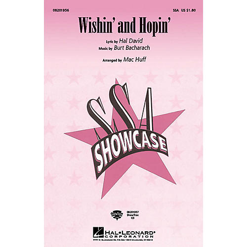 Hal Leonard Wishin' and Hopin' SSA arranged by Mac Huff