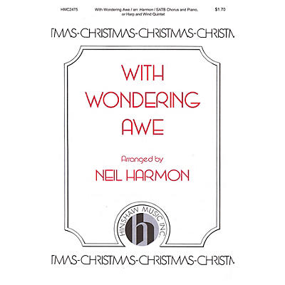 Hinshaw Music With Wondering Awe SATB arranged by Neil Harmon