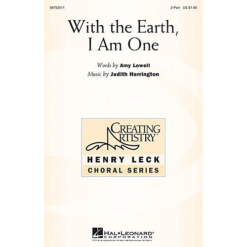 Hal Leonard With the Earth, I Am One 2-Part composed by Judith Herrington